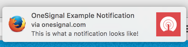 Example Firefox Notification